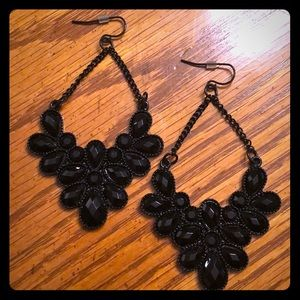 Express Black Dangle Earrings